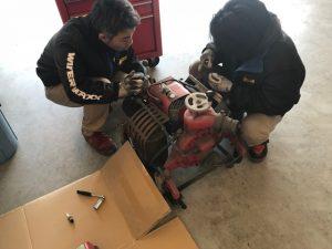 可搬ポンプ修理