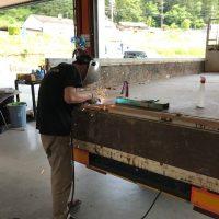 トラック荷台修理